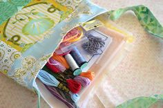 Hand Embroidery Kit Floss Supplies Patterns by countrygarden, $28.00
