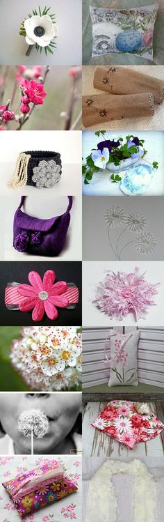 Flowers of the Day by Mary Fitch on Etsy--Pinned with TreasuryPin.com