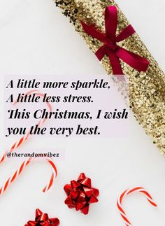A little more sparkle, a little less stress. This Christmas, I wish you the very best. #Christmasquotes #Merrychristmasquotes #Shortchristmasquotes #2020Christmasquotes #Merrychristmas2020quotes #Christmasgreetings #Inspirationalchristmasquotes #Cutechristmasquotes #Christmasquotesforfriends #Warmchristmaswishes #Bestchristmasquote #Christmasbiblequote #Christmaswishesforfamily #Christmascaptions #Festivechristmasquote #Merrychristmasimages #Merrychristmaspicture #Santaclausquote #therandomvibez Merry Christmas Quotes Wishing You A, Merry Christmas Card, Christmas Greeting Cards, Family Christmas, Christmas Humor, Inspirational Quotes About Success, Inspiring Quotes, Xmas Greetings, Wishes For Friends