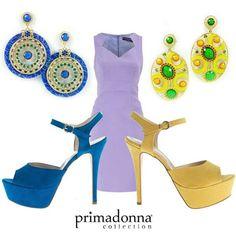 Quali accessori abbinereste con un tubino lilla? Preferite le tonalità fredde del blu o quelle calde del giallo?