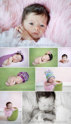 The Woodlands Newborn Photographer -  Capture the Dance Photography  natural light newborn baby girl pictures using props, blanket, flower pot, tutu