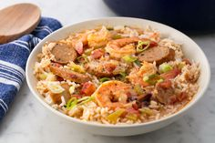 Easy Shrimp & Sausage Gumbo Delish This is it! Shrimp And Sausage Gumbo, Seafood Gumbo, Seafood Dishes, Seafood Recipes, Cooking Recipes, Sausage Jambalaya, Shrimp Gumbo Recipes, Gumbo Soup, Shrimp Soup