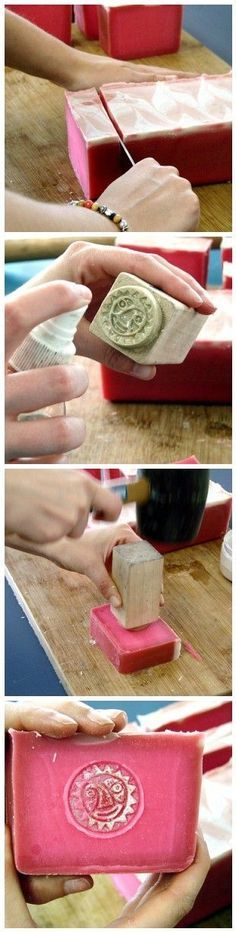 stamping soap. This is good to know because I just bought a lotus stamp to use on my soaps.