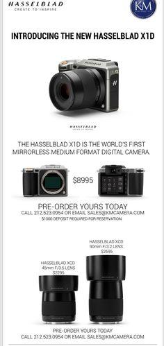 Hasselblad X1D medium format mirrorless camera