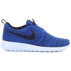Nike Nike Rosherun Flyknit Sneakers ($105) ❤ liked on Polyvore featuring shoes, sneakers, nike shoes, flyknit trainer, nike, nike trainers and flyknit shoes