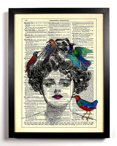 The Bird Queen Repurposed Book Upcycled by StayGoldMedia on Etsy