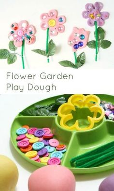 Flower Play Dough Invitation