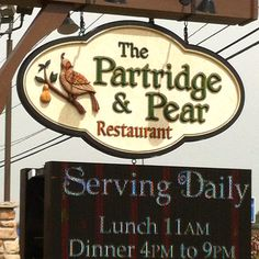 Partridge and Pear Restaurant Pigeon Forge , Tn - EXCELLENT!!!!!!! GO EAT THERE IF YOU'RE IN THE NEIGHBORHOOD!