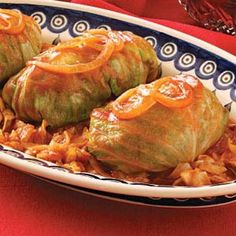 Sweet & Sour Stuffed Cabbage, not sooo quick but could be if you do it casserole style