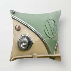 VW Camper Classic Throw Pillow by Alice Gosling - $20.00