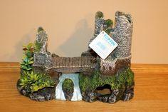 Top Fin Aquatic Decor Castle Bridge Bubbler  #TopFin