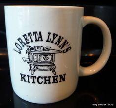Loretta Lynns Kitchen Coffee Cup Mug Vintage #LorettaLynn #Tennessee