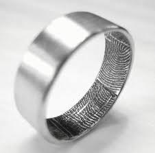 his ring, her fingerprint. amazing idea!