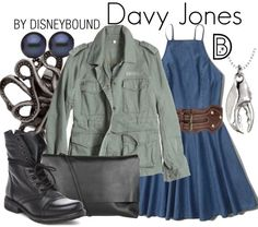 You may be a land lover, but you can still look great in a Davy Jones from The Pirates of the Caribbean outfit | fashion | outfits | disneyland outfits | disney world outfits | disney fashion outfits | disneybound | disneybound outfits | disney outfits | disney outfit ideas |