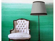 Emerald Ombre wallpaper panels - affordable!