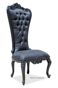 Absolom Roche Side Dining Chair - Black Seriously... someone get me this (2) as a wedding gift! :) but b4 the wedding so we can sit on them at the wedding. (: