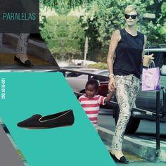 Inspiração para sair para passear. Conforto em primeiro lugar! // #weloveshoes #paralelas #slipper #flats
