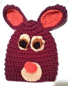 Infant/Toddler Bunny Rabbit Hat on Etsy, $22.00  Great for Easter pictures!!!