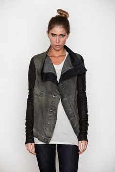 oh god. And this; DRKSHDW Women's Dark Dust Exploder Leather Sleeved Jacket
