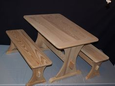 Childrens Trestle Table Set by JRAbles