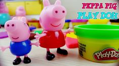 Learn Colors Shapes with Peppa Pig Play Doh Creations Nursery Rhymes Song For Kids - YouTube
