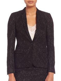 THE KOOPLES Jewel Buttoned Lace Jacket. #thekooples #cloth #jacket