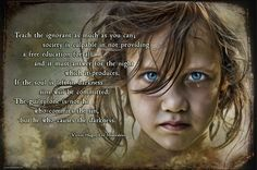 Teach the ignorant. Best Quotes from Les Miserables Victor Hugo Les Miserables Quotes, Les Miserables Movie, Education For All, Free Education, Great Inspirational Quotes, Meaningful Quotes, Best Quotes From Books, Book Quotes, Les Miserables