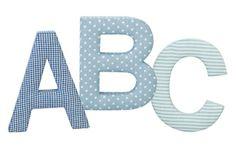 Kids Concept ABC Bokstaver Blå 3-pack | Innredning På veggen | Jollyroom