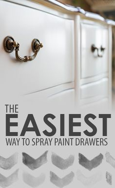 The Easiest Way to Spray Paint Drawers