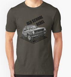 Old School Rebel Mk1 Retro Classic Cars Men's T-shirt. by ImageMonkey #classiccars #Tshirts #mensclothing #britishcars #golf