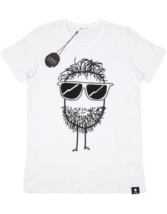 T-shirt Blanc Imprimé - Quipster Beard par Quipster T Shirt, Lovers, Mens Tops, Fashion, Tops, White People, Fashion Styles, Supreme T Shirt, Tee