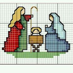 Christmas Nativity cross stitch.