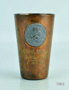 Kupfer Pokal Kelch Becher B.R.C. Neptun Int. Reg. 1926 I. Vierer copper trophy