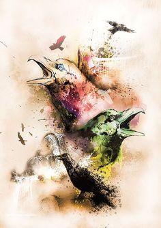 Colorful Ravens by Heidi Aalerud