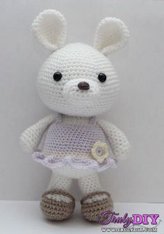 Lavender The Bunny by Little Muggles-Free Craft Patterns