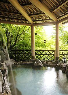 Kawaura hot spring, Yamanashi, Japan