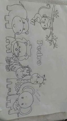 Pintura by Prika Reis Artesanato. Art Drawings Sketches Simple, Beautiful Drawings, Cute Drawings, Chalk Drawings, Beautiful Pictures, Baby Embroidery, Hand Embroidery Designs, Baby Drawing, Drawing For Kids