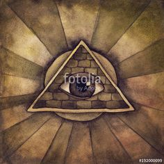 "Download the royalty-free photo ""Illuminati symbol, eye in a pyramid"" created by Elena Schweitzer at the lowest price on Fotolia.com. Browse our cheap image bank online to find the perfect stock photo for your marketing projects!"