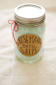 Maker Crate - Rosemary Bath Salts but without food coloring and adding actual dried rosemary.
