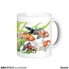 Magnetic cup of goldfish classic white coffee mug