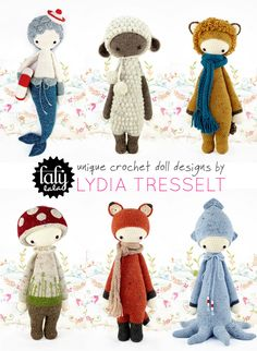 Emma Lamb shared the Lalylala #crochet dolls by graphic and textile designer Lydia Tresselt who sells the patterns