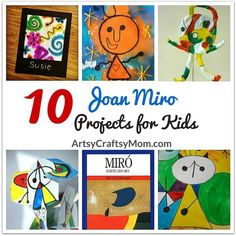10 Awesome Joan Miro Projects for Kids - Art Lessons For Kids, Artists For Kids, Art Lessons Elementary, Art For Kids, School Art Projects, Projects For Kids, Art Montessori, Montessori Elementary, Elementary Art