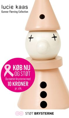Klovnen fra Lucie Kaas vil også være med på den pinke bølge. Køb den klovnen og støt med 10 kr. pr. stk. Til og med den 3. oktober. #lyserrød #pink #støtbrysterne #denlyserødesløjfe #støtengodsag #inspirationdk #lyserødinspiration #LucieKaas #Klovn