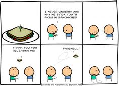 Why people put Toothpicks in sandwiches