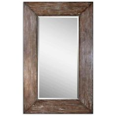 Large Luxurious Mirror Antique Distressed Maple Wood Beveled Bedroom Hall Vanity #Uttermost #VintageRetro
