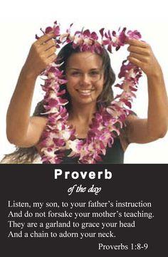 Proverbs 1:8-9