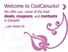 Canadian Online Coupons   CoolCanucks - Canadian Coupons, Contests, Deals and Freebies
