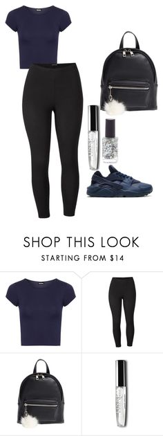 """Nike Navy Blue Huarache outfit"" by benginafantaisie on Polyvore featuring NIKE, WearAll, Venus, BP. and plus size clothing"