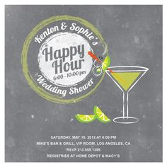 Bottled happy hour invitations in creme letter design pinterest party invitations happy hour by jenn johnson stopboris Images