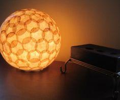 cofee filter lamp